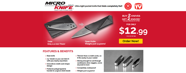 Micro Knife 180 website screenshot