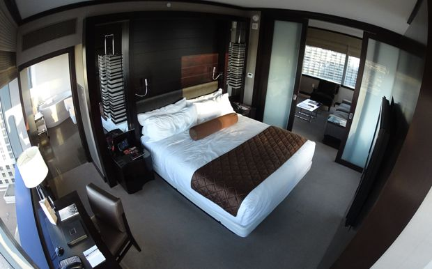 vdara corner suite bedroom