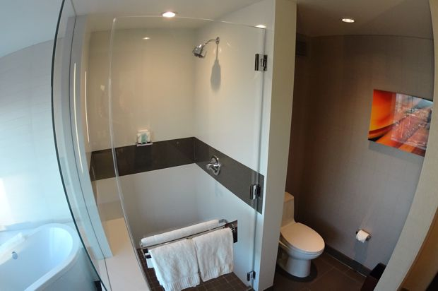 vdara corner suite shower