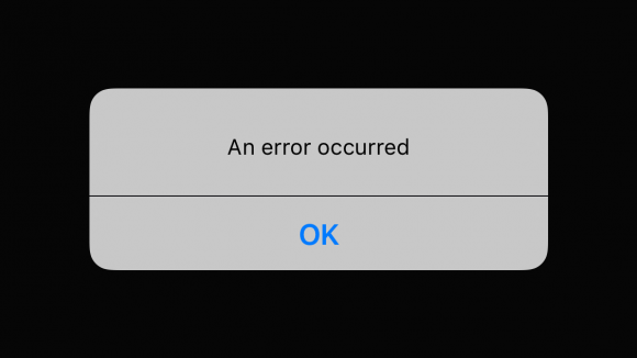 "vine ""an error occurred"""
